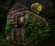 Creepy Digital Art Metal Prints - Abandoned? Metal Print by Craig Koski