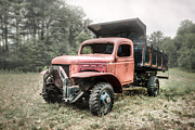 Rusted Cars Photos - Abandoned Dump Truck - American Classics by Gary Heller