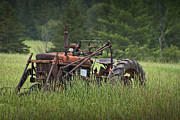 Abandoned Farm Tractor In The Grass Print by Randall Nyhof