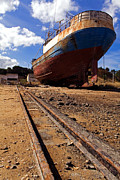 Wooden Ship Art - Abandoned fishing ship by Jose Elias - Sofia Pereira