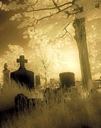 Eerie Digital Art - Abandoned Graveyard by Gothicolors And Crows