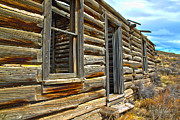 Cabin Window Prints - Abandoned Homestead Print by Shane Bechler