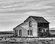 Abandonment Framed Prints - Abandoned House - Q Rd NW - Douglas County - Washington - May 2013 Framed Print by Steve G Bisig