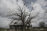 Haunted House Digital Art Metal Prints - Abandoned House Metal Print by Donna G Smith