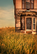 Spooky Door Prints - Abandoned House in Grass Print by Jill Battaglia