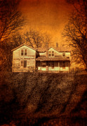 Haunted House Art - Abandoned House Sunset by Jill Battaglia