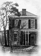 Abandoned House Drawings Prints - Abandoned House Print by Tanya Crum