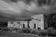Larry Marshall Prints - Abandoned in Black and White Print by Larry Marshall