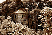Duotone Prints - Abandoned in Time Print by Melissa Petrey