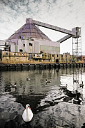 Gary Heller Metal Prints - abandoned - Industrial - Swan song Metal Print by Gary Heller