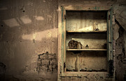 Cabinet Framed Prints - Abandoned kitchen cabinet Framed Print by RicardMN Photography