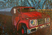 Ontario Digital Art Originals - Abandoned Oil Truck by Michael Graham