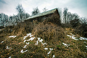 Empty House Photos - Abandoned Places - Old House - House on the hill by Gary Heller