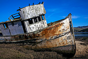 Abandoned Boats Prints - Abandoned Point Reyes Print by Garry Gay