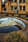 Empty Pool Prints - Abandoned Pool and Building Print by Jill Battaglia