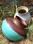 Jugs Prints - Abandoned Pots Print by Mary Deal