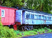 Caboose Mixed Media - Abandoned Railcars by Bob Newland