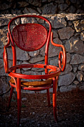 Abandoned Red Chair Print by Iryna Soltyska