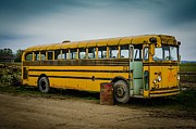 Abandoned School Prints - Abandoned School Bus Print by Puget  Exposure