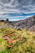 Engineering Digital Art Prints - Abandoned Slate Quarry Print by Adrian Evans