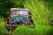Rusted Cars Photo Acrylic Prints - Abandoned Truck in Rural Michigan Acrylic Print by Adam Romanowicz