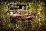 Randall Nyhof - Abandoned Vintage Car along the roadside in Ontario Canada