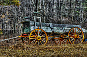 Abandoned Wagon Edge Of Field Print by Dan Friend