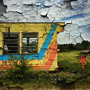 Abandoned Yellow Trailer Print by Amy Cicconi