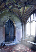 Cloistered Prints - Abbey Door Print by Jill Battaglia