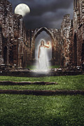 Ancient Ruins Prints - Abbey Ghost Print by Christopher and Amanda Elwell