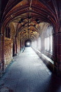 Cloistered Prints - Abbey Hallway Print by Jill Battaglia