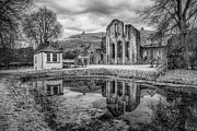 Monks Prints - Abbey Reflections Print by Adrian Evans