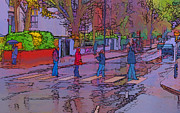 Crosswalk Photo Metal Prints - Abbey Road Crossing Metal Print by Chris Thaxter