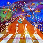 Musical Notes Painting Originals - Abbey Road in 50 Years by To-Tam Gerwe
