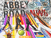 Beatles Mixed Media Framed Prints - Abbey Road Framed Print by Mo T