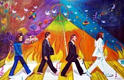 George Harrison Paintings - Abbey Road by To-Tam Gerwe