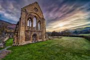 Ruins Digital Art Metal Prints - Abbey Ruins Metal Print by Adrian Evans
