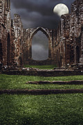 Ancient Ruins Prints - Abbey Steps Print by Christopher and Amanda Elwell
