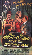 Invisible Framed Prints - Abbott and Costello Meet the Invisible Man  Framed Print by Movie Poster Prints