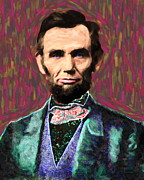 Abe Lincoln Digital Art Posters - Abe 20130115 Poster by Wingsdomain Art and Photography