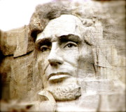 Mount Rushmore Photos - Abe by Nancy TeWinkel Lauren