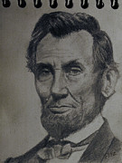 President Lincoln Drawings - Abe by Rick Fitzsimons