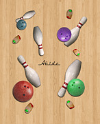 Bowling Digital Art - Abide 2w by Filippo B