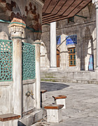 Sinan Framed Prints - ablution taps at sokullu pasa camii Mosque Framed Print by Antony McAulay