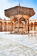 Alabaster Framed Prints - Ablutions Fountain in the Courtyard of the Alabaster Mosque Framed Print by Mark E Tisdale