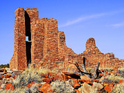 Ancient Ruins Prints - Abo Mission Ruins Print by Terril Heilman