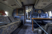 Dc-9 Framed Prints - Aboard Air Force Two Framed Print by David Dufresne
