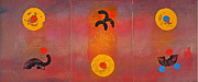 Aboriginal Art Paintings - Aboriginal Dream by Charles Stuart