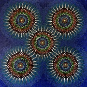 Aboriginal Art Paintings - Aboriginal Inspirations 16 by Mariusz Czajkowski