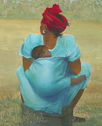 African-american Pastels - About Color by Martha J Davies
